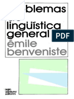 BENVENISTE, Émile - Problemas de linguistica geral II