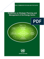 Strategic Planning and Management of Energy Sector