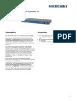 40 Channel DWDM Multiplexer 1U