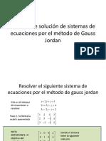 Ejemplo Gauss Jordan