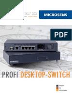 MICROSENS Profi Desktop-Switch EN2913