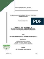 Manual de prueba a trasformadores