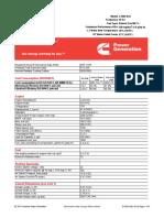 Generator Set Data Sheet 2000 KW Continous