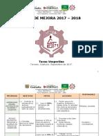 Ruta de Mejora y Estrategia Global Septiembre 2017