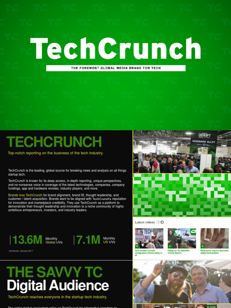 Tech Crunch Media Kit 2017 | Facebook | Advertising
