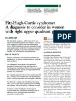 Fitz Hugh Curtis Syndrome
