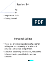 Session 3-4 Personal Selling