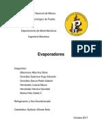 Resumen de Evaporadores Manual a.R.I. y Libro Dossat de Refrigeración.