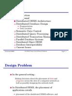 Distirbuted DataBase Design