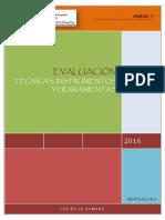 Técnicas, Instrumentos y Herramientas de Evaluación