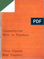 Oppenheimer -Bilim Ve Sağduyu