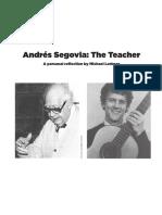 Andres Segovia the Teacher