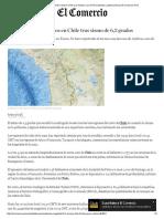 Sismo de Magnitud 6,3 Remece Chile y La Frontera Con El Perú _ Mundo _ Latinoamérica _ El Comercio Perú