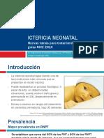 Ictericia Neonatal. Nuevas tablas para tratamiento en prematuros guías NICE 2010