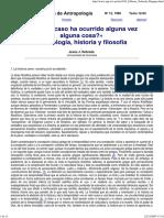 Nebreda - Antropología, Historia y Filosofía