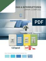 WEG Tomadas Interruptores Compose 50058899 Catalogo Portugues Br