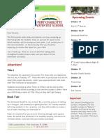 PCAS Newsletter 10-12-2017