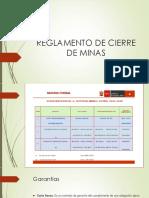 Reglamento Cierre de Minas