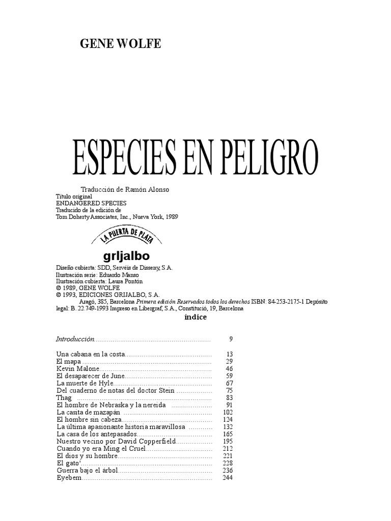 d7cc8e53e6 WOLFE GENE - Especies en Peligro
