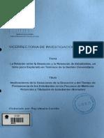 CIImplicaciones de la Variaciones de la Deserción y del Tiempo de Permanencia de los Estudiantes en los Procesos de Matricula Retención y Titulación de Estudiantes (Borrador)DI 7859