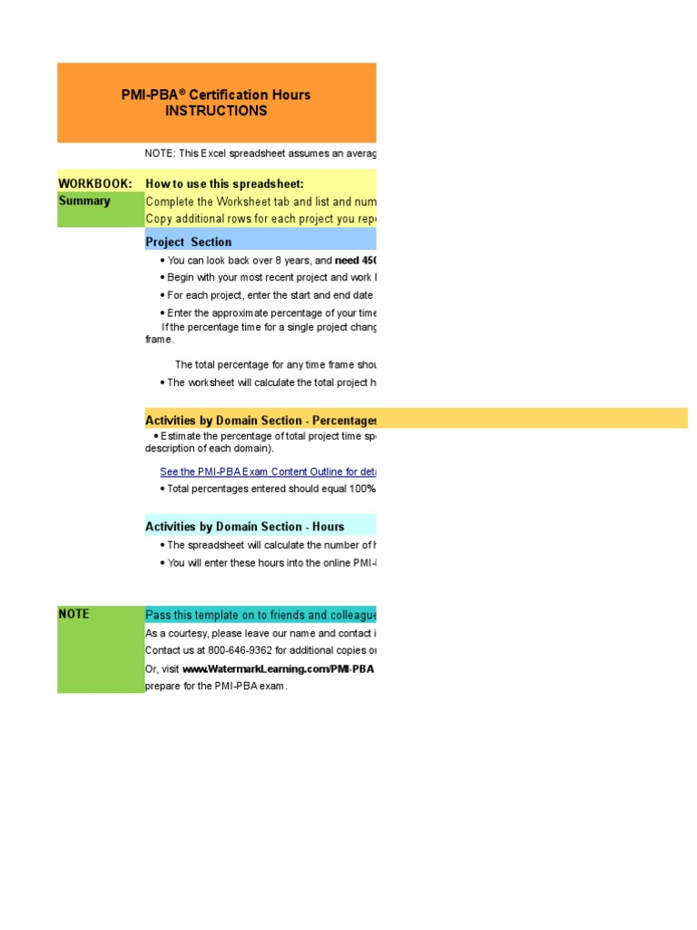 Pmi pba application worksheet v3 3 microsoft excel spreadsheet 1betcityfo Image collections
