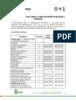 Terminos Especificos -Artes Plasticas 2017 (2)