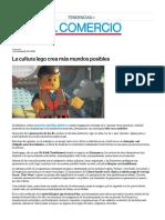 La Cultura Lego Crea Más Mundos Posibles