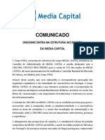 Media capital comunicado