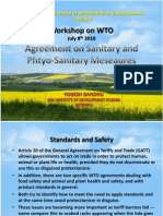 Agreement on Sanitary and Phtyo-Sanitary Meseaures