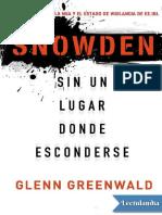 Snowden - Glenn Greenwald