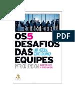 DocGo.org Baixar Livro Os 5 Desafios Das Equipes de Patrick Lencioni PDF eBook, Mobi, Epub.pdf