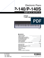 Yamaha P-140 Service Manual