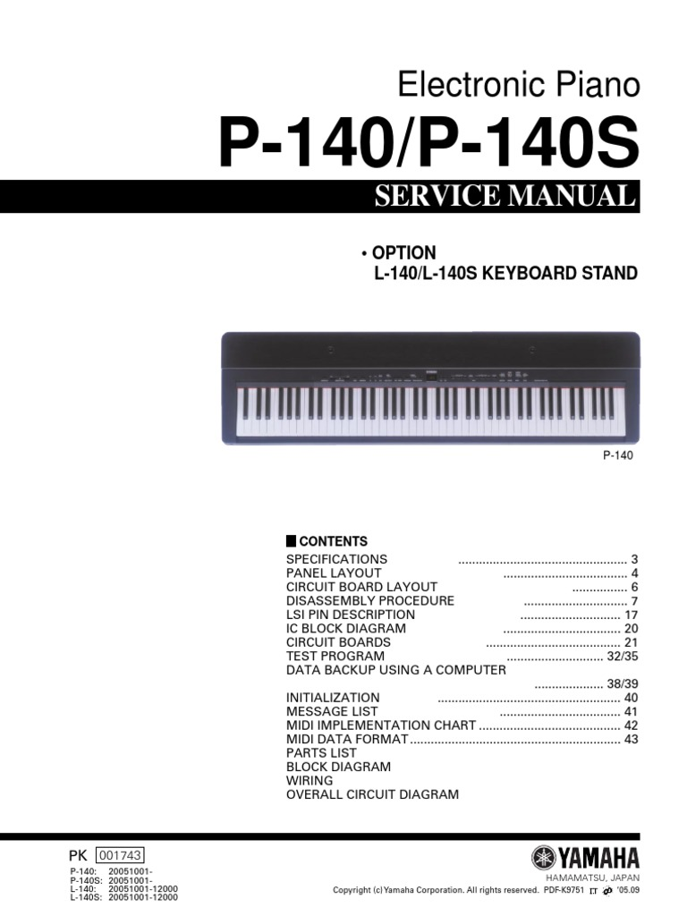 Yamaha p140 black   strumenti musicali. Net.