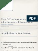 Clase3. Funcionamiento e Interconexión Del Computador