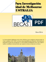 Becas Para Investigación Universidad de Melbourne, Australia