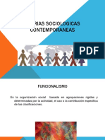 TEORIAS SOCIOLOGICAS CONTEMPORANEAS