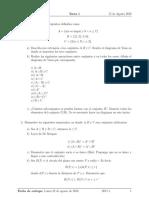 Primer Semestre Algebra Superior I Tarea 1