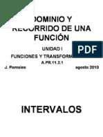 DOMINIO Y RECORRIDO DE UNA FUNCIÓN version BLOG Blanco y Negro