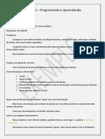 Briefing 1 - Programando e Aprendendo