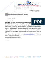 Carta Presentacion Valorizacion