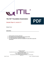 ITIL Foundation Examination Sample a v5.1