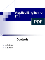 Applied English to IT I - Lesson VII (1)
