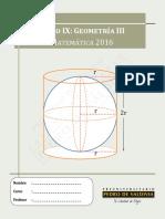 Libro IX - Geometría III
