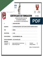 Certificado de Fumigacion Bodega Meza