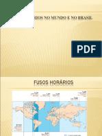 Fusos Horários No Mundo e No Brasil
