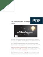 As 7 Mais Eficazes Estratégias de Marketing Digital