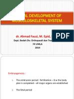 Perkembangan Normal Sistem Musculoskeletal