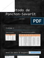 Problema 2. Ponchon Savarit