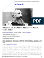 When You Kill Ten Million Africans You Aren't Called 'Hitler' - Diary of a Walking Butterfly _ Diary of a Walking Butterfly
