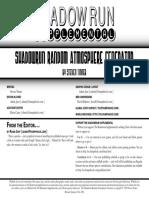 Shadowrun Supplemental - - Ranmdom Atmosphere Generator